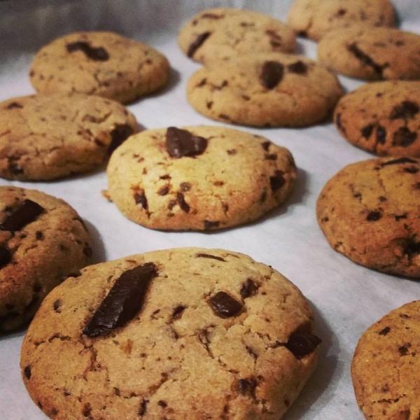 עוגיות נמר (שוקולד צ'יפס) טבעוניות