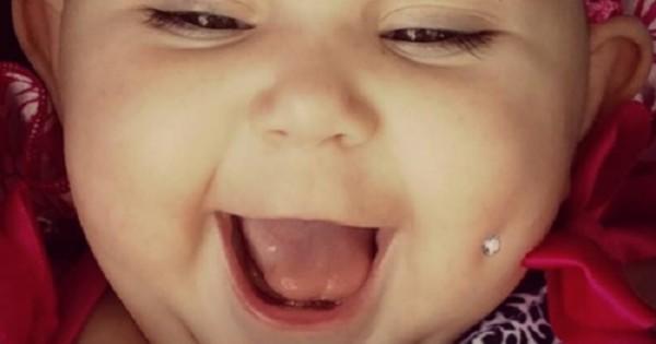 אמא שיתפה תמונה של תינוקת עם פירסינג בלחי ועוררה שערוריה ברשת