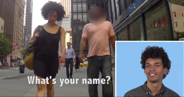 גברים צופים בבנות זוגם מוטרדות ברחוב