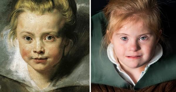 ילדים עם תסמונת דאון מככבים כיצירות אומנות
