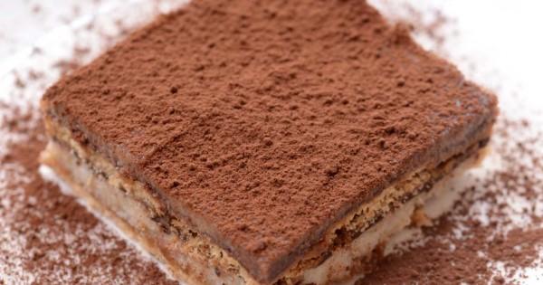 טירמיסו קפה ושוקולד טבעוני