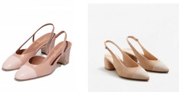 הנעליים המדוברות של בלה חדיד: מנגו (מימין) ושאנל