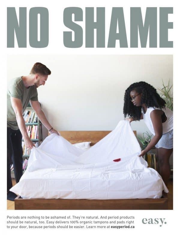 בלי בושה: קמפיין למוצרי היגיינה נשית