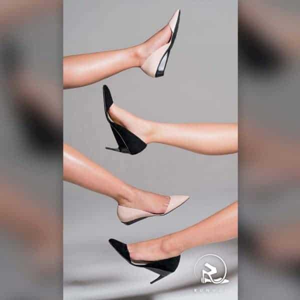 נעלי עקב שהופכות לנעליים שטוחות. צילום: Runway Heels