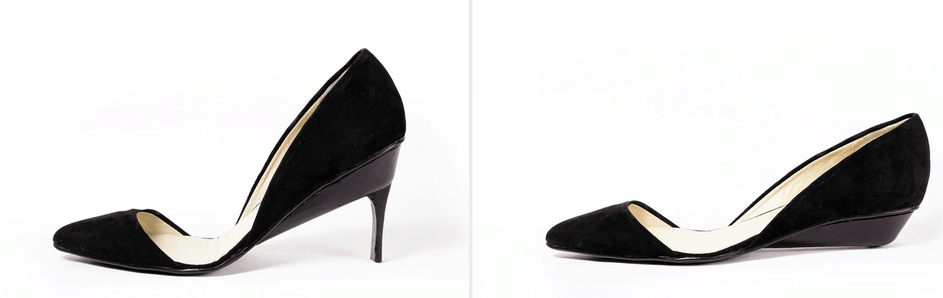 נעלי העקב שהופכות לשטוחות בלחיצת כפתור