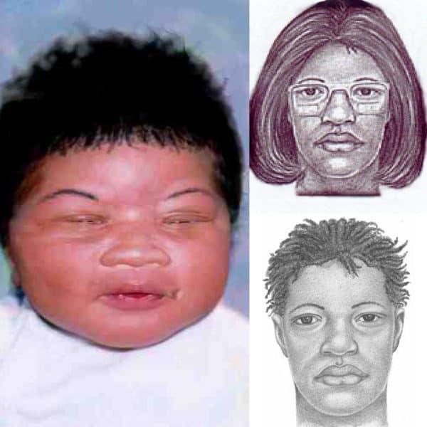 קלסתרון של התינוקת קמיה מובילי ושל האישה שחטפה אותה