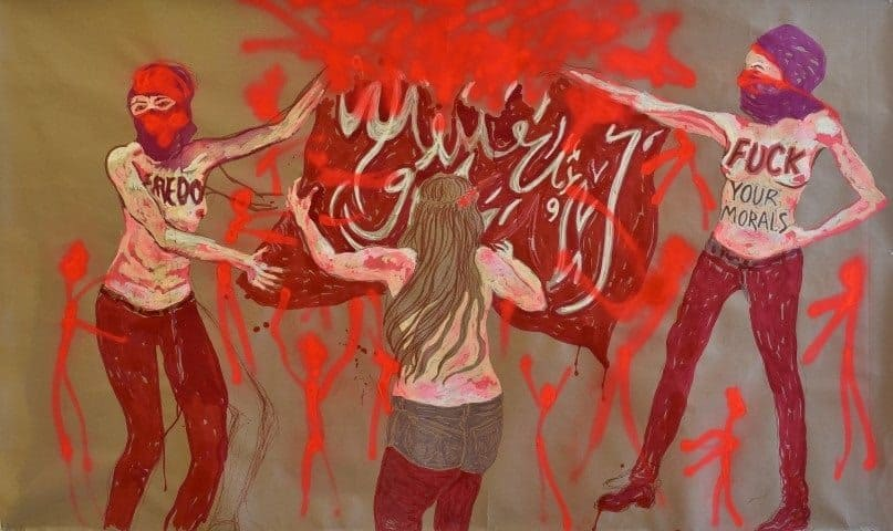 ענבל מנדס פלור, מתוך התערוכה 'מחאה נשית'