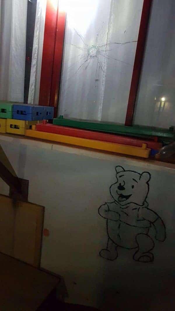 נפילת קסאם בגן הילדים בשדרות