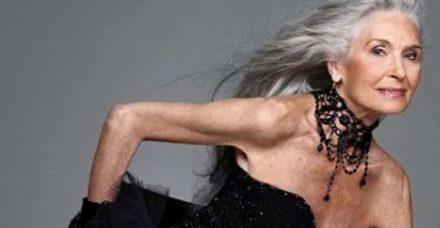 הדוגמנית המבוגרת בעולם קיבלה עוד קמפיין