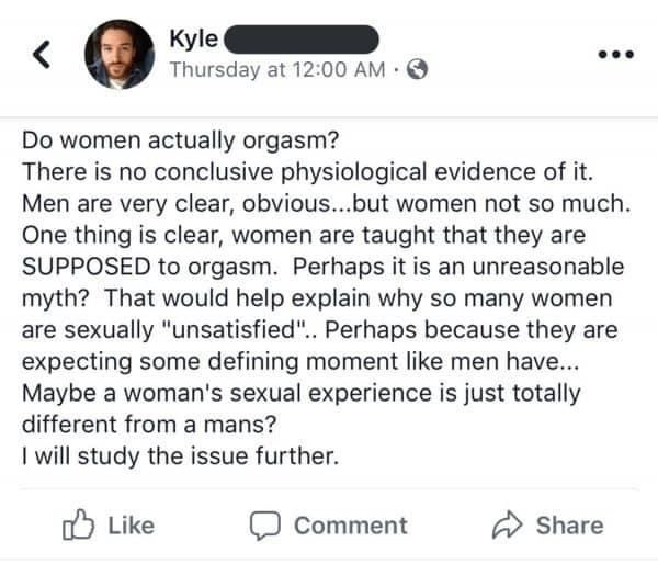 האם נשים באמת מסוגלות לגמור? הפוסט שעורר סערה
