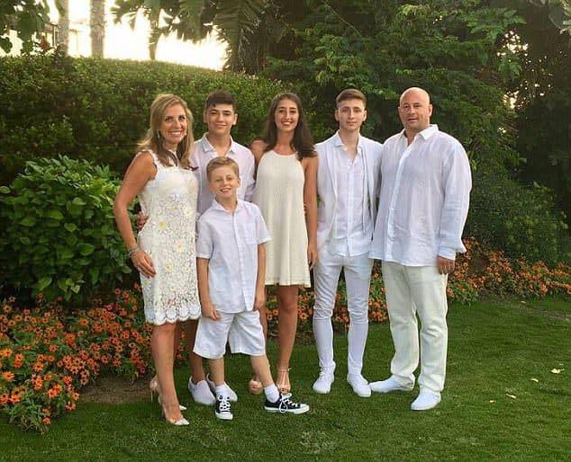 ניקולה מנדלסון ומשפחתה