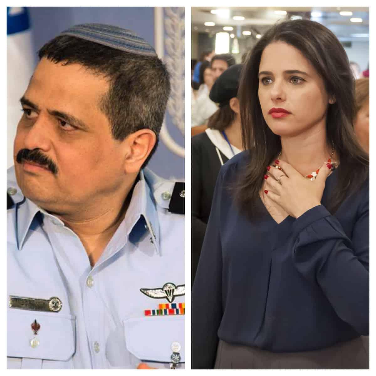 הבוסית החדשה ומפקד הנחקרים. צילום shutterstock ודוברות משטרת ישראל