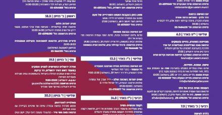אירועי יום האישה 2018 בירושלים