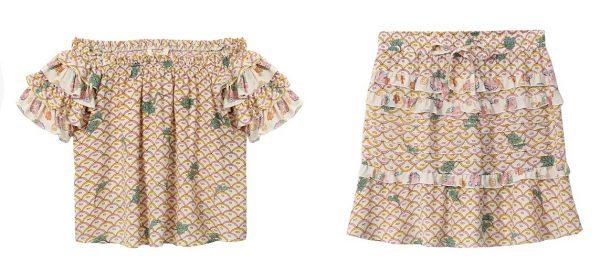 sack's. טופ: 698 שקל; חצאית 668 WK