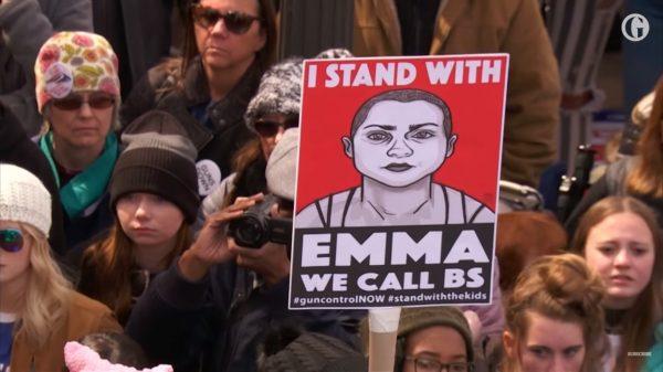 נאומה של אמה גונזלס. צילום מסך