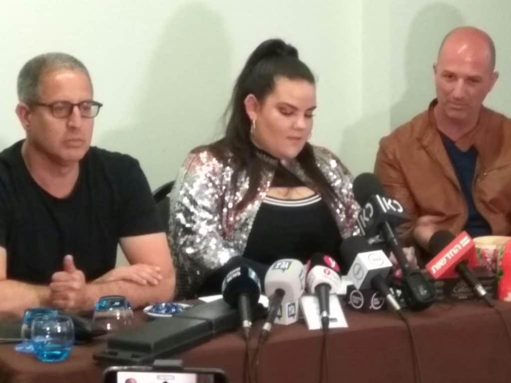 נטע ברזילי במסיבת העיתונאים הישראליים בליסבון
