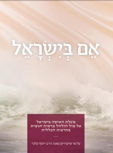 תמונת השער של החוברת 'אם בישראל'