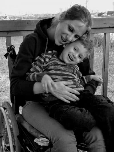 מאיה מרקביץ בלטר ובנה. צילום ביתי