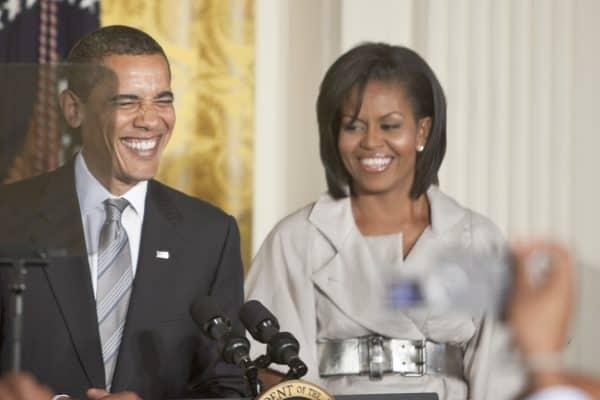 מישל וברק אובמה. צילום: shutterstock