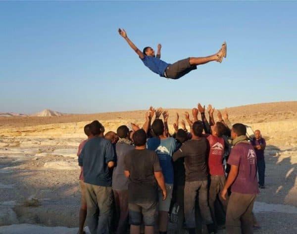 נערי חממת המנהיגות של בית הספר. צילום: אליאב מייסון