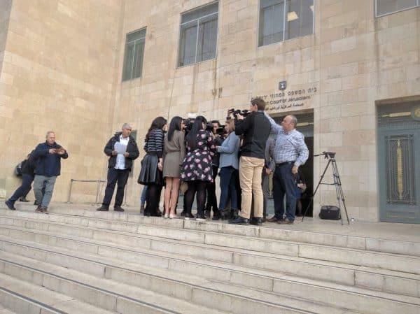 האחיות ארליך בדיון בבית המשפט. צילום: טניה גלבוע