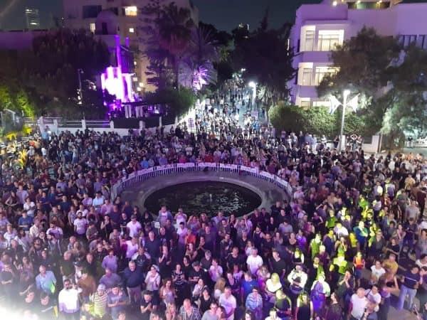 לילה לבן בכיכר ביאליק 2019. צילום דינה גונה