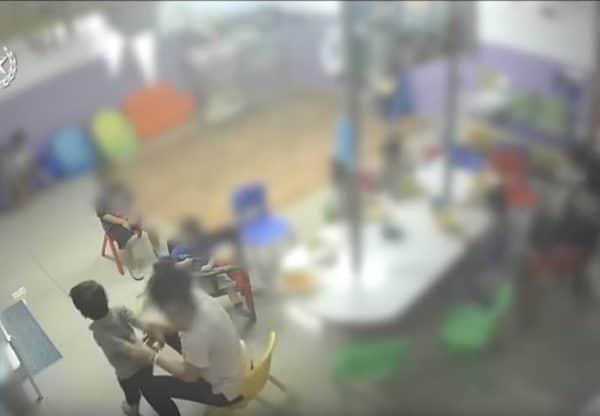 מתוך התיעוד של כרמל מעודה בפעוטון בייבי לאב. צילום מתוך יוטיוב