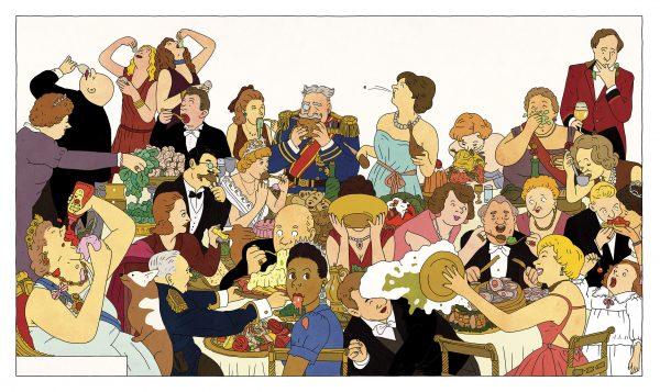 רותו מודן/ איור מתוך הספר ״סעודה אצל המלכה״