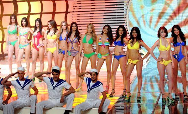 """טקס בחירת מלכת היופי 2009. צילום: עמוס בן גרשום, לע""""מ"""
