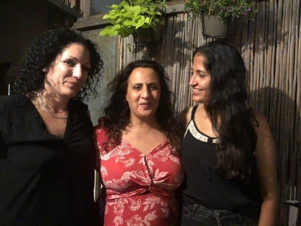 מימין: תמר דהאן, סימונה מורי והלה נויבך, עו״ד איגוד הסיוע