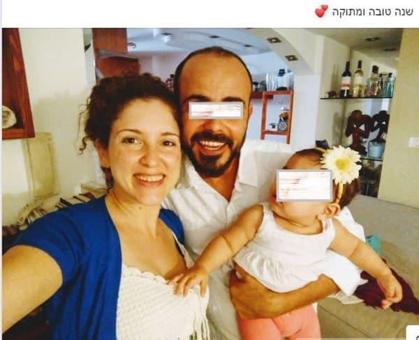 """מיכל סלה ז""""ל, יחד עם החשוד ברצח אלירן מלול ובתם. צילום מתוך פייסבוק"""