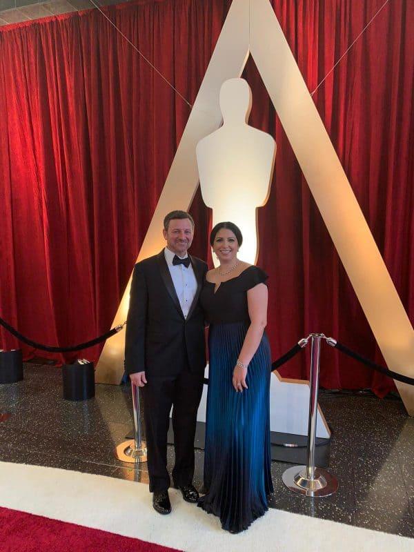 שירה וג'י רודרמן בטקס האוסקר 2020
