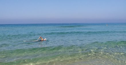 דברים שעושים בקורונה, שוחים בים, (תודה לרוני גמזו שהשאיר את הים פתוח) ולומדים ערבית