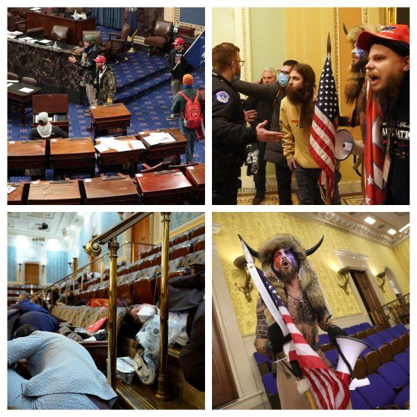 מראות מתוך המהומות בסנאט 06.01.21 צילומים shutterstock