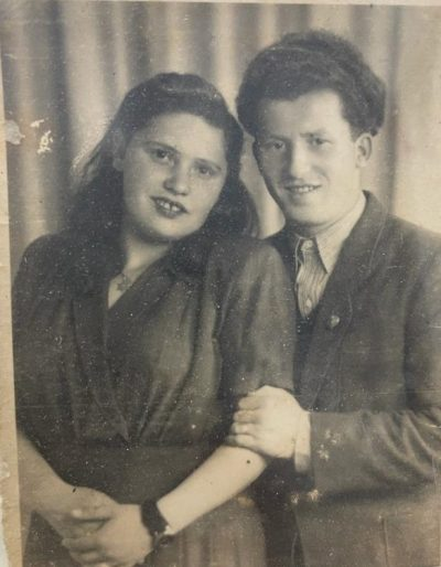 """דוד בלכטובסקי ואשתו שושנה ז""""ל. צילום מתוך אלבום פרטי"""