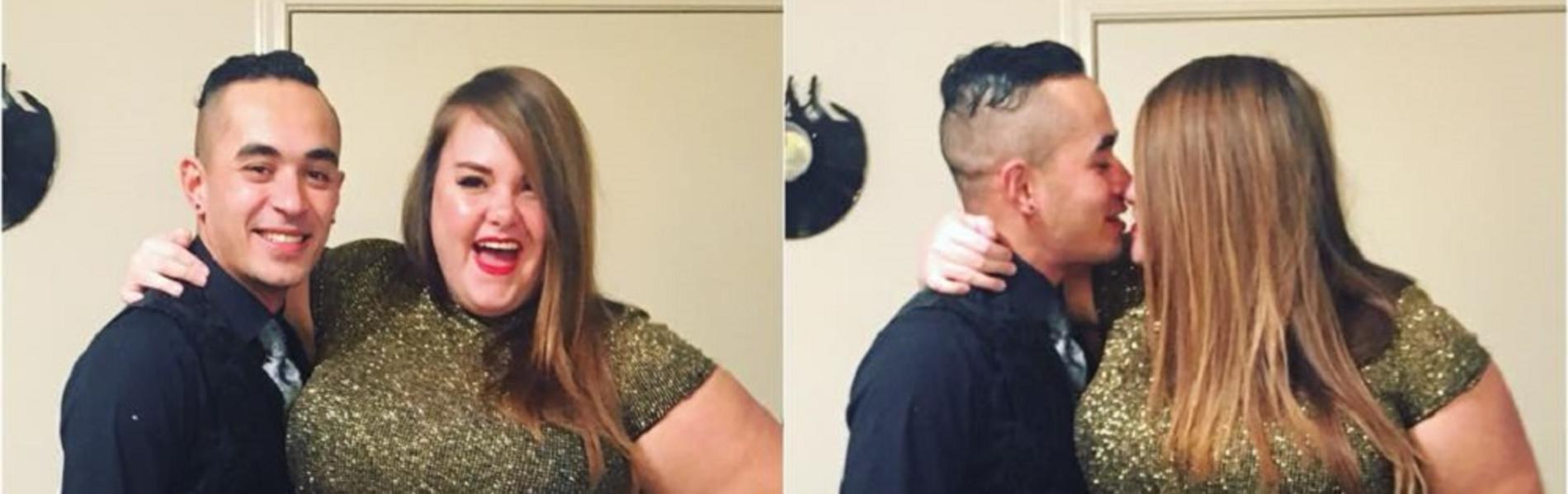 תמונה של בלוגרית שמנה עם בן זוגה הרזה עוררה סערה ברשת