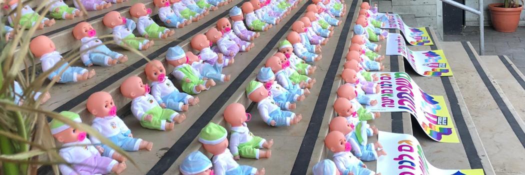 מחאת התינוקות. צילום באדיבות רועי נוימן