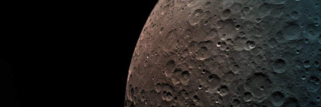 פני הירח בתצלום שלכדה החללית. מתוך דף הפייסבוק של SPACEIL