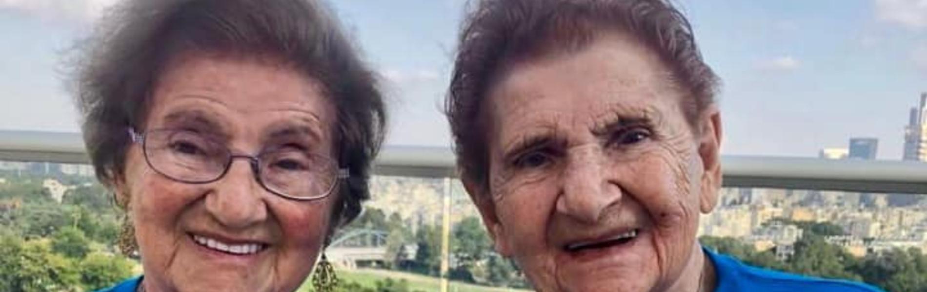 אסתר ויהודית: שרדו יחד את השואה וכעת חוגגות יחד יום הולדת 95