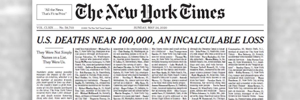 שער הניו יורק טיימס 24.05.20