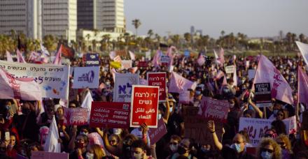 """צעדת הנשים: """"שימו את מניעת הרצח הבא בראש סדר העדיפויות שלכם"""""""